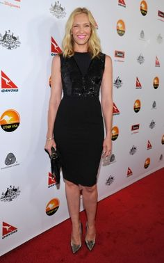 Toni Collette in our new season Cleodorra Dress to the Black Tie Gala for G'DAY USA in Los Angeles.