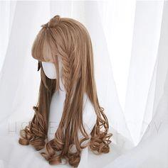 少女C ー Milky Teaー   MONKEEP Kawaii Hairstyles, Pretty Hairstyles, Wig Hairstyles, Cosplay Hair, Cosplay Wigs, Kawaii Wigs, Lolita Hair, Anime Hair, Dye My Hair