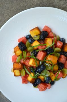 Kick up a classic summer side dish with this quick and easy recipe for Italian Fruit Salad paired with buttery pound cake croutons. The official first day of summer may still be a few weeks away, but I've decided to get a headstart on my lineup of warm weather side dishes, beginning with this fresh [...]