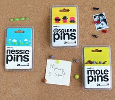 Novelty push pins