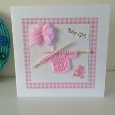 Handmade Card for a New Baby Girl £3.50