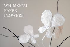 Have you ever wondered how to make paper flowers? You can easily whip up a few of your own with this tutorial for Really Whimsical Paper Flowers. These easy paper flowers are so simple and sweet. Rolled Paper Flowers, How To Make Paper Flowers, Large Paper Flowers, Tissue Paper Flowers, Diy Flowers, Paper Roses, Construction Paper Flowers, Paper Flower Backdrop Wedding, Wedding Paper