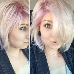 A hint of mauve can bring dimension to platinum locks. | 15 Surprisingly Gorgeous Ways To Rock Colorful Roots