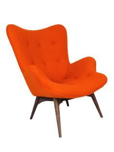 orange!  mid centry modern chair / Teddy Bear Chair by Control Brand