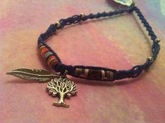 #Tree & #feather #recycled #macrame #hemp #necklace - $15.00 at  hemptressdesigns.com