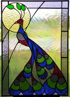 Proud Peacock - Delphi Stained Glass