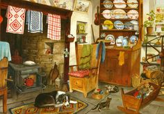 Crofter's Cottage - 1000pc Jigsaw Puzzle By Holdson