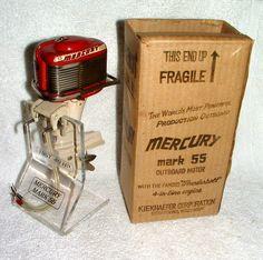 1957 Mercury Mark 55 Red Battery Op Toy Outboard Motor