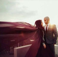 Romantic pic of muslim couple