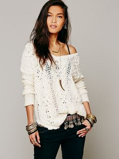 Free People Cross My Heart Pullover, 90.21
