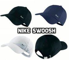 Nike Metal Swoosh Unisex Sports Peak Cap Baseball  Logo Adjustable Golf Training