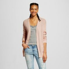 Women's Open Cardigan - Mossimo Supply Co.  (Junior's) - Pink