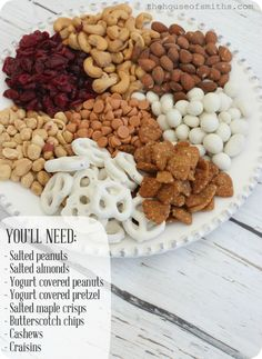 The BEST trail mix! #trailmixrecipe #snacks #houseofsmiths