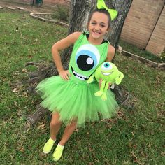 Our own Monsters Inc costume for Halloween.