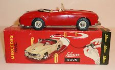 SCHUCO Germany Tin Litho Wind-up 1956-69 MERCEDES BENZ 190SL ROADSTER with BOX