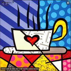 Original painting by the Brazilian artist Romero Britto - Paris Art Web Paris Kunst, Paris Art, Arte Pop, Graffiti Painting, Graffiti Art, Pop Art, Neo Pop, Art Web, Love Posters