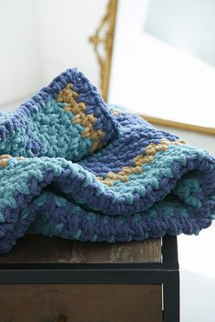 Bernat Cozy Up Stripes Blanket