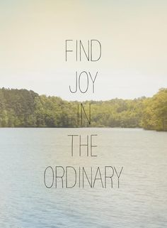 Find joy in the ordinary inspirational quote word art print motivational poster ...