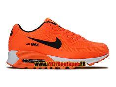 separation shoes 73591 bd134 Nike Air Max 90 KPU (PS) Chaussure Nike Basketball Pas Cher Pour Enfant  Orange Noir 724872-005