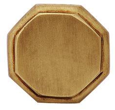 1 5/8 Inch Solid Brass Octagonal Cabinet Knob (Antique Brass Finish)