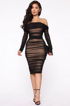 Ready And Ruched Mesh Midi Dress - Blue, Dresses | Fashion Nova Long Sleeve Midi Dress, Black Midi Dress, Black Dress Outfit Party, Dress Long, Curve Dresses, Sexy Dresses, Peach Dresses, Midi Dresses, Casual Dresses