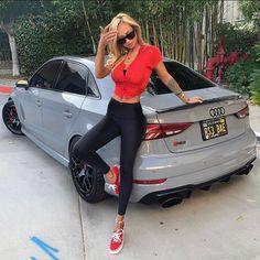 Sexy Cars, Hot Cars, Audi S4, Girls Heels, Street Bikes, Car Girls, Belle Photo, Sporty, Year 2016