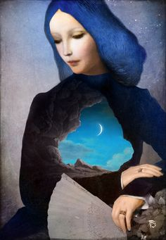 """""""Lady Midnight"""" Digital Art by Christian Schloe posters, art prints, canvas prints, greeting cards or gallery prints. Find more Digital Art art prints and posters in the ARTFLAKES shop. Art And Illustration, Fantasy Kunst, Fantasy Art, Painting & Drawing, Black Painting, Art Visionnaire, Lady Midnight, Ouvrages D'art, Surrealism Painting"""