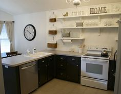 Kitchen Ideas With Rustic Modern Floating Shelves