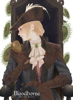 maiden in black Software Art, Bloodborne Art, Soul Game, Old Blood, Fandom Games, Dark Souls, Demon's Souls, Fantasy Characters, Fictional Characters