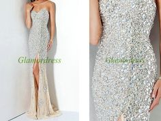 Latest long cream chiffon prom dresses with by Glamordress on Etsy