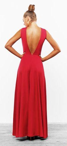 Vestido largo rojo vestido elegante piso maxi vestido para las mujeres otoño primavera ocasión vestido para las mujeres abrir nuevo vestido