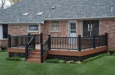 two toned deck staining | lighting custom made cedar lattice skirt stained in a complementary ...