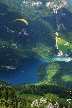 "Bavaria, Germany ------------------------------------------ I just finished watching an amazing video clip on paragliding... the narrator comments ""Your playground is VERY big...""  Definitely on my bucket list!"