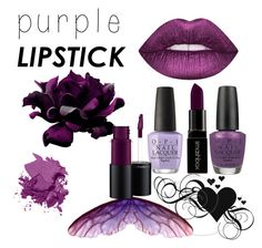 """Purple love"" by alexandraflorina on Polyvore featuring beauty, Lime Crime, Bobbi Brown Cosmetics, OPI, Smashbox and MAC Cosmetics"