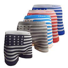 Crazy Cool Mens Stretchable Seamless Boxer Briefs Underwear 5-Pieces Set, Free Size (American Flag1-5P) Crazy Cool http://www.amazon.com/dp/B015POR9ZY/ref=cm_sw_r_pi_dp_cKSawb0AW7VSH