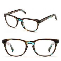The blue highlights in these frames are unique and (four) eye-catching.