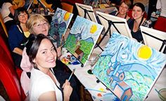 Groupon - Wine and Painting Class for One or Two at Wine and Canvas (Up to 54% Off). Groupon deal price: $17.00