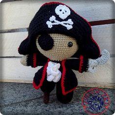Pirat crochet doll by Zwooczki on Etsy