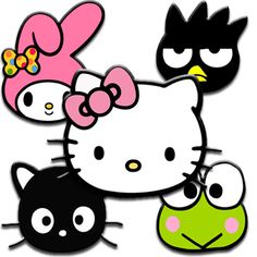 Hello Kitty & Friends Hello Kitty My Melody, Hello Kitty Items, Colorful Wallpaper, Cool Wallpaper, Chocolate Cat, Hello Sanrio, Hello Kitty Tattoos, Hello Kitty Pictures, Miss Kitty