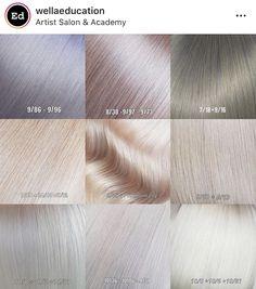 Ice Blonde Hair, Silver Blonde Hair, Wella Toner, Hair Toner, At Home Hair Color, Hair Color And Cut, Hair Color Placement, Hair Salon Names, Hair Color Formulas