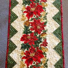 Christmas table runner made by Janet Beyea.