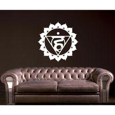 Ashok Chakra Om Symbol Vinyl Wall Art