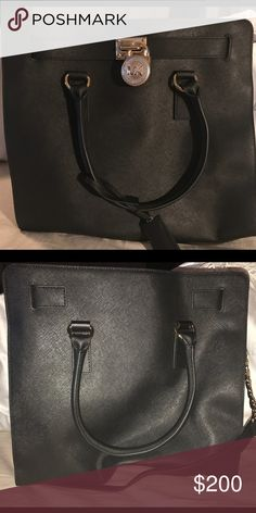 AUTHENTIC NWOT MICHAEL KORS LARGE HAMILTON : BLACK Used a couple times. Mint condition. Dust bag included. Michael Kors Bags Totes