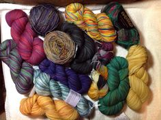 Sock yarn stash.