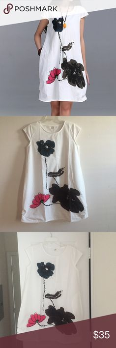 "🎉HP🎉 5🌟❗️one left ❗️perfect linen summer dress The perfect linen summer dress measurements: M ( armpit to armpit 19"", length 33.8"" ), XL  ( armpit to armpit 20.3"", length 34.6"" ) Dresses Mini"