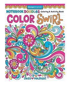 Fox Chapel Publishing Notebook Doodle Color Swirl Coloring Book