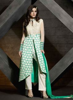 Designer Blue pant style designer punjabi suit for party wear