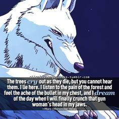 "Moro ""Princess Mononoke"" - already pinned this so often, but still one of the most true and sad quote ever made that can be adapted to this world Studio Ghibli Quotes, Studio Ghibli Art, Studio Ghibli Movies, Hayao Miyazaki, Animation, Mononoke Forest, Fb Quote, Manga Quotes, Character Design"