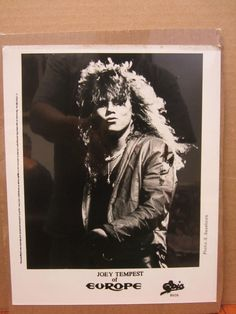 Europe Joey Tempest Epic black and white rock and roll  8x10 photo print    #19