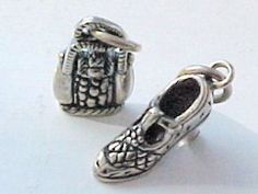 Charms, Fashion: T-Strap Shoe & Purse Sterling Silver Charms (2) #Traditional